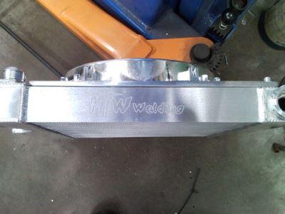 Capri radiator custom engraving