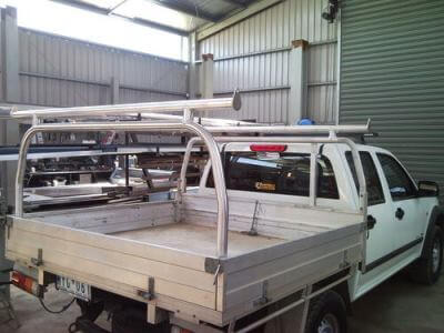 aluminium ladder rack